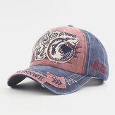 Unisex Pamuklu Eski Nakış Desen Günlük Moda Güneşlik Beyzbol Şapka
