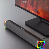 Lenovo L101 Alto-falante para computador Alto-falante de mesa com fio RGB Light Dual Unidades Estéreo Surround Subwoofer Soundbar para Macbook Laptop Notebook PC Player