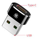 Baseus USB Male to USB Type C Female OTG Adapter Cable Converter For Nexus 5x 6p Oneplus 3 6