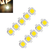 10 unids 10W 900LM Blanco Alto Brillante luz LED Lámpara Chip DC 9-12V