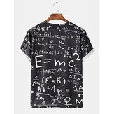 Повседневная черная футболка с коротким рукавом с принтом Mens Funny Doodle Math