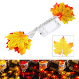 1.5M 10 LED Fall Maple Fairy ضوء String Garland Lamp Christmas ضوء Xmas Home Decor
