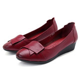 Mulheres Confortáveis ​​Soft Leather Flats Loafers