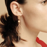 Temperament Wearing Long Strips Of Column Earring
