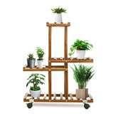 Premium bamboe houten plantenstandaard Indoor Outdoor Garden Planter Flower Pot Shelf