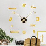 Emoyo JM026 Criativo Grande DIY Parede Relógio Moderno 3D Parede Relógio Com Números Espelho Adesivos Para Decorações de Escritório Em Casa