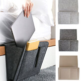Felt Bedside Pocket Caddy Storage Organizer Bed Desk Bag Sofa TV Remote Holder Storage Bags
