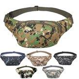 Mens Tactical Waist Bag Military Canvas Waist Bag Travel Hiking Storage Bag Camping Belt Bag