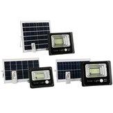 50W 80W 120W Energia solar ao ar livre PIR Movimento Sensor Projetor de jardim LED Controle Remoto Luz de segurança