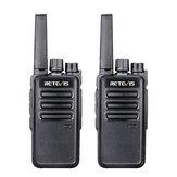 2PCS Retevis RT68 16 Channels Frequency 462 MHz Mini Ultra Light Handheld Radio Walkie Talkie Intercom