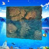 60x50cm 3D PUロックストーンアクアリウムバックグラウンド爬虫類水槽背景US