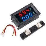 3ピース0.56インチ青赤デュアルLEDディスプレイミニデジタル電圧計電流計DC 100 V 50Aパネルアンプ電圧電圧電流計テスター