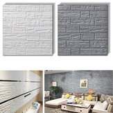 70x77cm 3D Brick Wall Sticker Wallpaper Decoración Espuma Impermeable Wall Covering Wallpaper DIY Fondo