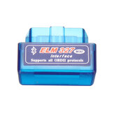 Mini ELM327 Bluetooth V1.5 OBD2 II Autodiagnosetool Auto EOBD Scanner Für Android Phone Blau