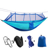 260x140cm Outdoor Double Camping Hammock Hanging Bed Swing Com Mosquiteiro