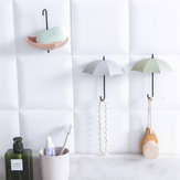 3Pcs Creative Umbrella Wall Hooks Pothook For Keys Hairpin Holder Organizer Decorative Organizer Home Decoration