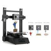 Creality 3D® CP-01 3-em-1 DIY 3D Printer Kit de máquina modular Suporte Laser Gravação / Corte CNC 200 * 200 * 200 Tamanho de impressão com tela de 4,3 polegadas / currículo elétrico / placa de vidro removível / nivelamento inteligente