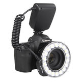 Travor RF-600D 3000K-9000K Universal Macro LED Ring Flash Video Light for Canon for Nikon for Sony DSLR Camera