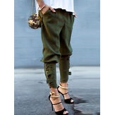 Elastic Waisted Casual Loose Long Trousers Harem Pants For Women