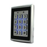 125 кГц EM ID Металл Чехол Открыватель ворот Замок RFID Клавиатура контроля доступа с подсветкой