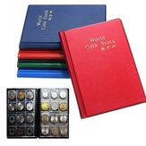 10 Seiten 120 Münzsammlungen Inhaber Pocket Money Tokens Aufbewahrungsalbum Dekorationen Aufbewahrungstasche