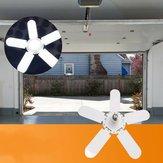 E27 Ajustável 2/3/4/5 + 1 lâminas deformáveis LED Oficina de lâmpada de garagem Lâmpada de teto para interior AC85-265V