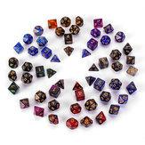 7Pcs Galaxy Polyhedral Dices For Dungeons Dragons Games D20 D12 D10 D8 D6 D4 + Saco