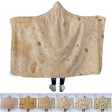 Multi-size Hooded deken Tortilla Texture Soft Fleece Bed Sofa Quilt dekens