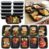 10pcs 16oz Meal Prep Containers Food Storage Reusable Microwavable Plastic Box Lunch Bags