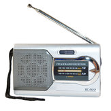 Mini Portable Pocket Stereo AM FM Telescopic Antenna Radio Speaker