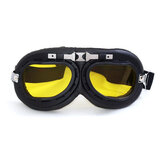 Retro Helmet Goggles Motrocycle Scooter Cycling Riding Eyewear Glasses Adult