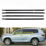 4X Weatherstrip Window Molding Trim Sill Seal Cinto Para Toyota Highlander