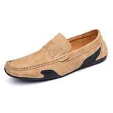 Menico Men Genuine Leather Slip On Soft Casual Flats