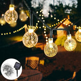10M 2 Modes 80LED Bubble Ball Solar Fairy String Light Outdoor Indoor Garden Party Christmas Lamp