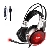 SOMiC E95X 5.2 Physical Multi - Channel Vibration USB Gaming Luminous Headphone Headset With Microphone for PS4 XBOX