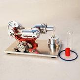 Ulepszenie Red Stirling Engine Generator Engine Model Micro Engine Hobby Steam Engine Prezent urodzinowy