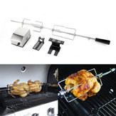 4W roestvrij staal Rotisserie BBQ Spit Rod Grill Roaster Camping BBQ-gereedschap Set