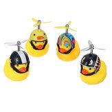Carro LED Decoração Light Little Yellow Duck Vestindo Capacete Luzes De Aviso De Segurança Com Controle Remoto