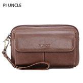 Men Vintage Genuine Leather Large Capacity Crossbody Bag