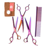 Pet Grooming Scissors Set Double-Curved Straight Shaver