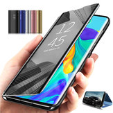 Bakeey Plating Mirror Window Antichoc Flip Full Cover Housse de protection pour Huawei Mate 30