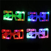 Led Glasses Flashing Light Glasses New Year 2020 Shape Light Up Christmas Holiday Party Decorations Props