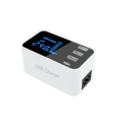 3USB Port USB Charger Type C LCD Display Charger 100-240V Estação de carregamento