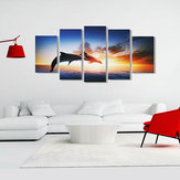 Dolphin Sunset Canvas Print Paintings Poster Wall Art Picture Home Decor Unframed