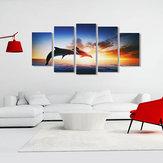 Yunus Sunset Tuval Baskı Resim Sergisi Poster Wall Art Resim Ev Dekor Çerçevesiz