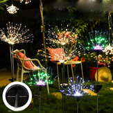 Solar Firework String Light 90/120/150 LED Lamp Outdoor Garden Party Christmas Decorations Lights
