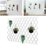 Anticorrosive Wood Pull Net Flower Frame Grid Vine Frame Wall Decorations Wall Hanging Telescopic Wooden Fence Pull Net