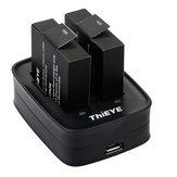 Thieye Dual Batería Cargador con 1100mAh Dos Li-on Baterías Carga rápida al disparar
