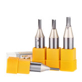 Drillpro 1/2 Inch Shank Double Flute Straight Router Bit Cutter Golden Coated CNC Carbide Wood Cutting Tool