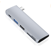HOWEI HW-TC40 5-in-1-USB-Hub 5 Gbit / s USB3.0 USB2.0 SD-TF-Kartenleser USB-C PD Charging Extender Extension Connector